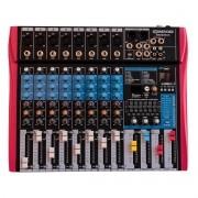 Mixer Soundvoice MS-802 EUX (8 Canais/Efeito/Equalizador 7 Bandas/USB)