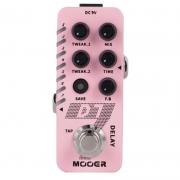 Mooer Mini Pedal De Efeito para Guitarra Delay D7 (com 6 Tipos de Delay e Looper)