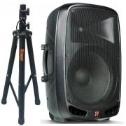 """Staner Caixa Ativa PS-1501 (15""""/200w RMS/USB/Bluetooth/FM/Cartão SD/Tripé)"""