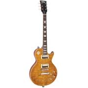 Vintage Guitarra Les Paul Paradise Reissued V100AFD (Amber)