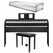 Yamaha Piano Digital P45B + Estante Original L85B + Banco + Capa Proteção