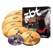 "Zildjian Kit de Pratos ZBTP390-SP (10"" Trashformer, 14'' Hi-Hat, 14'' Crash, 16'' Crash, 18'' Crash e 20'' Ride)"