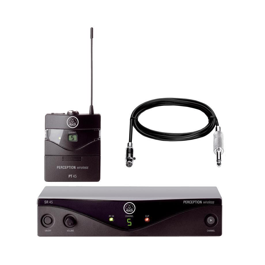 AKG Transmissor Sem Fio Para Instrumentos (Guitar Cable + PT45 + SR45)