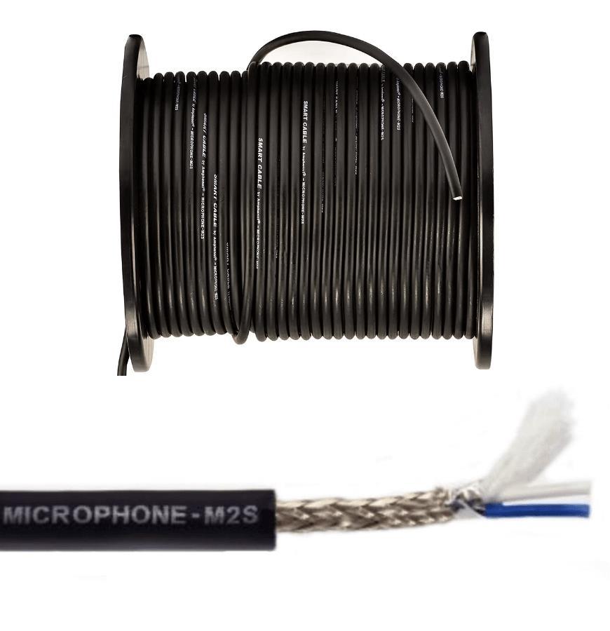 Amphenol Cabo para Microfone 95% De Malha M2S 2x22AWG/2x0,30mm² (1 Metro)