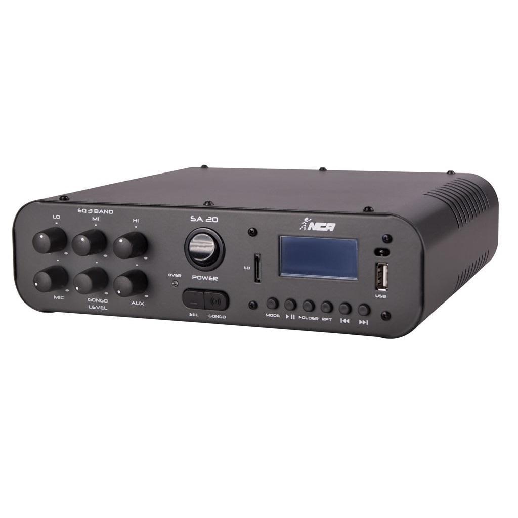 Amplificador Compacto LL Audio SA-20 (100w RMS/FM/USB/SD/Gongo Eletrônico)