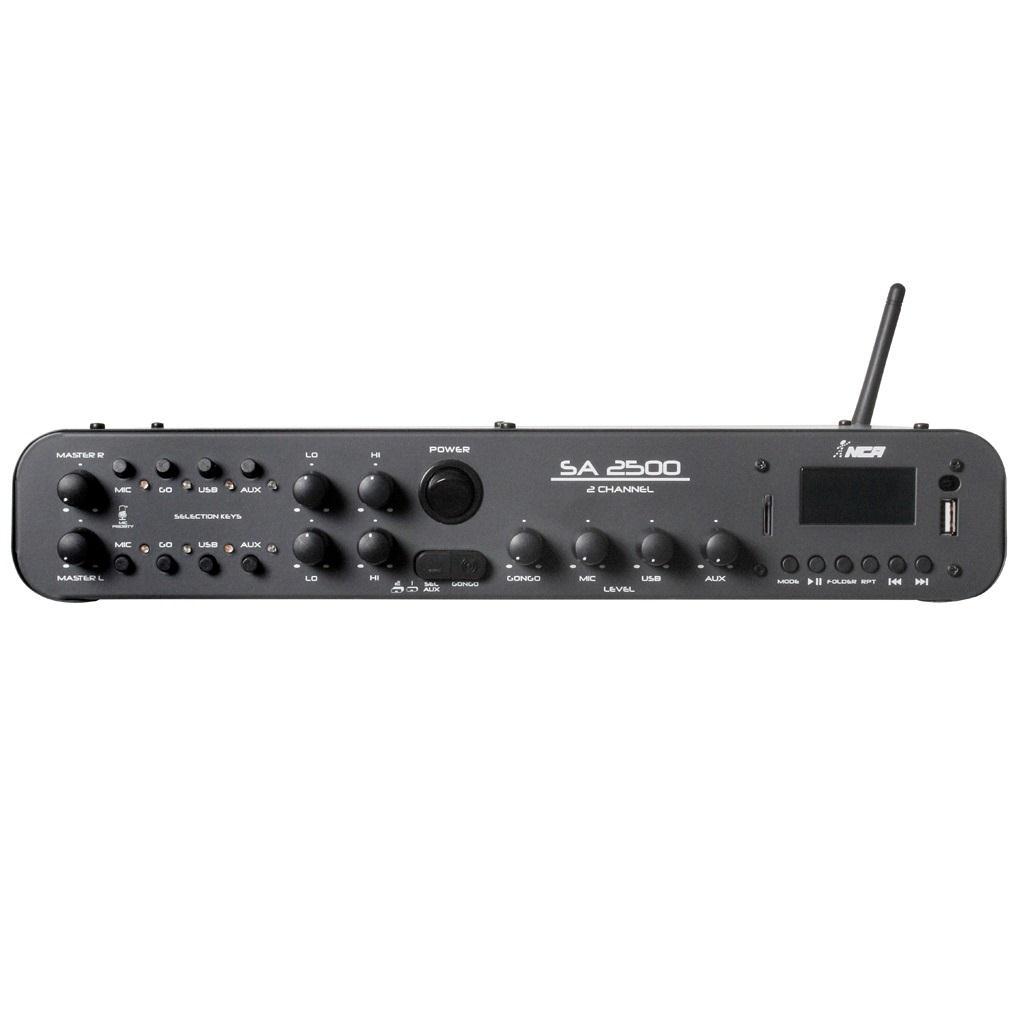 Amplificador Compacto LL Audio SA-2500 (180w RMS/FM/USB/SD/Bluetooth/Gongo Eletrônico)