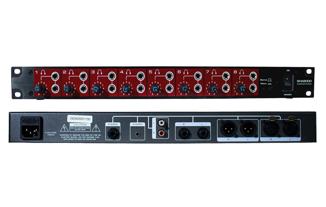 Amplificador de Fone Soundvoice SHA-8000 (8 Canais)