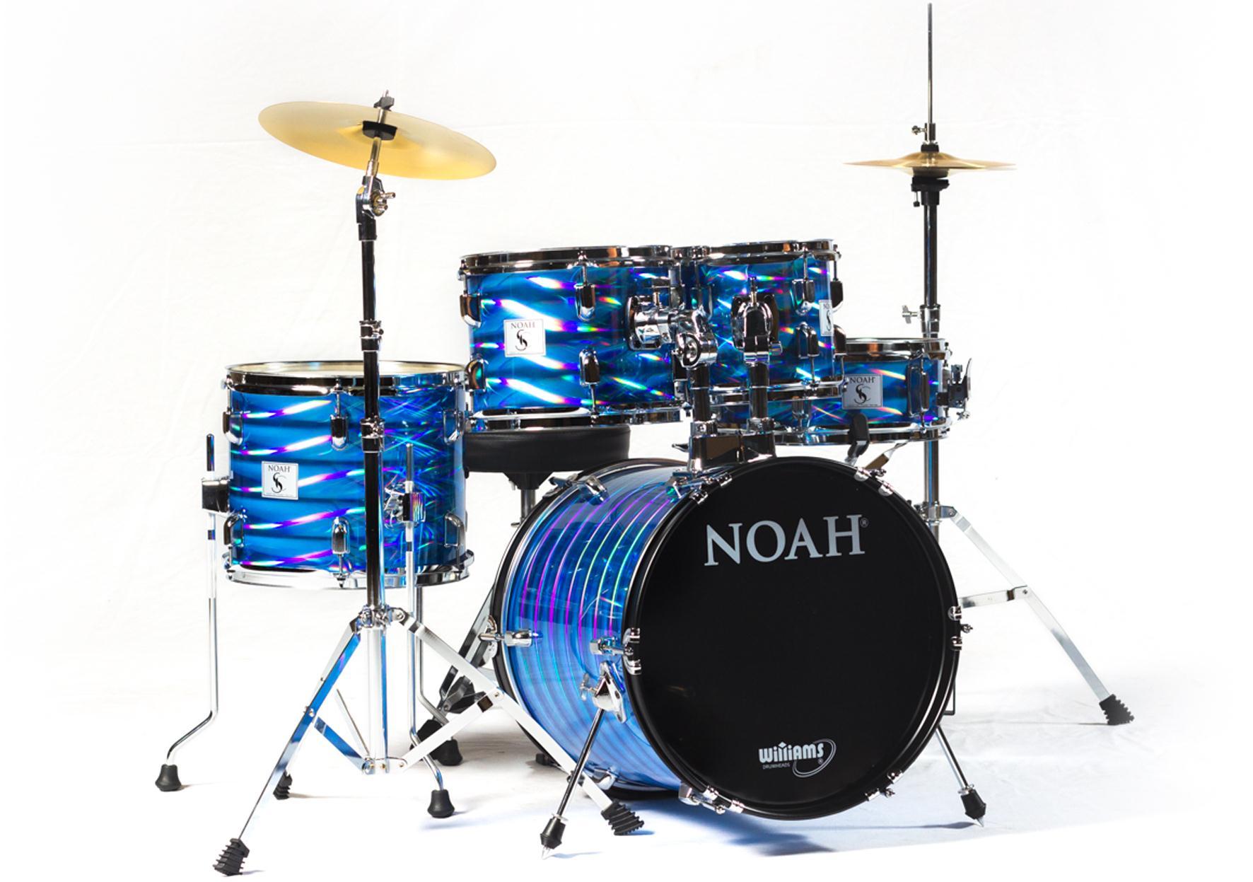 Bateria Completa Reduzida Noah (Bumbo 16''/Blue Wave)