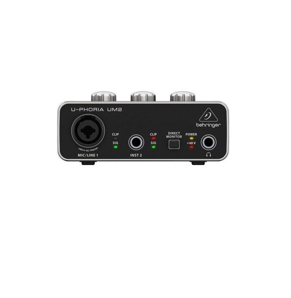 Behringer Interface de Áudio para Gravação U-Phoria UM2 - USB
