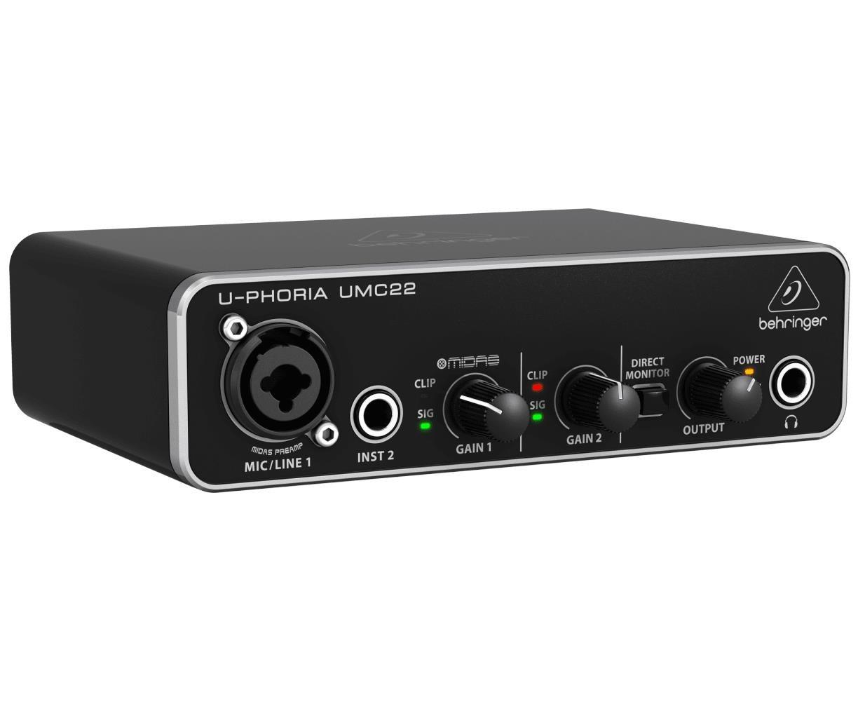 Behringer Interface de Áudio para Gravação U-Phoria UMC22 - USB