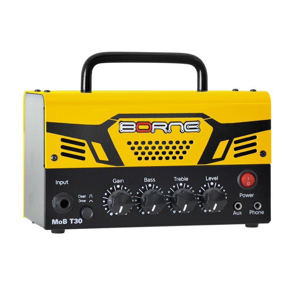 Borne Amplificador Cabeçote para Guitarra MoB T30 (30w RMS/Amarelo)
