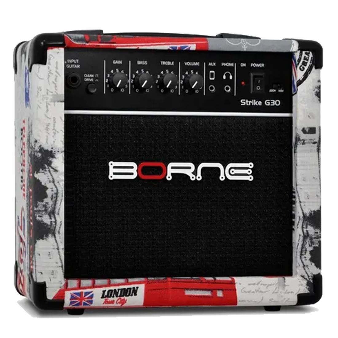 Borne Amplificador Cubo para Guitarra STRIKE G30 London (6''/15w RMS)