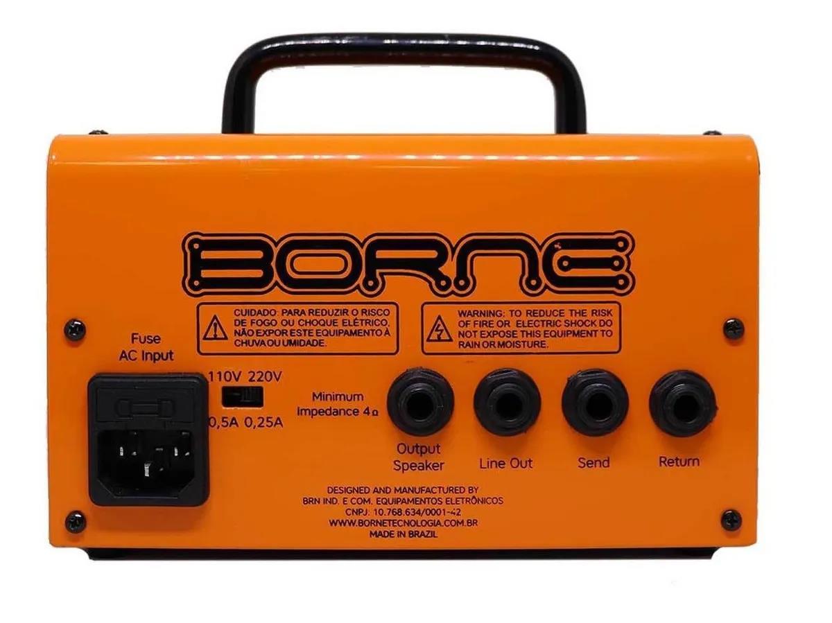 Borne Amplificador Cabeçote para Guitarra MoB T30 (30w RMS/Laranja)