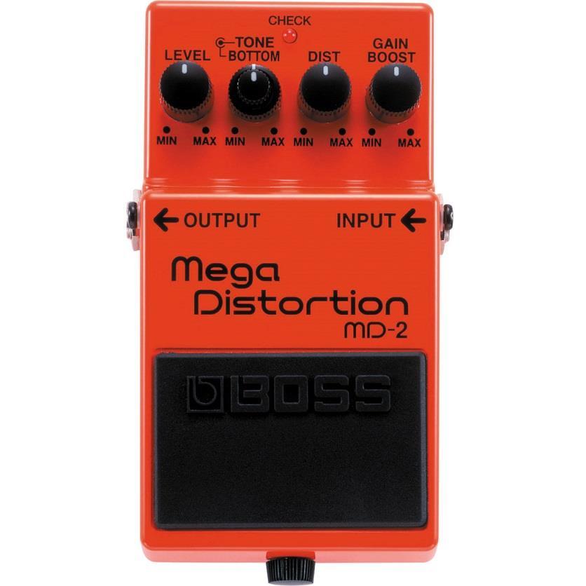 BOSS Pedal de Efeito para Guitarra Mega Distortion MD-2