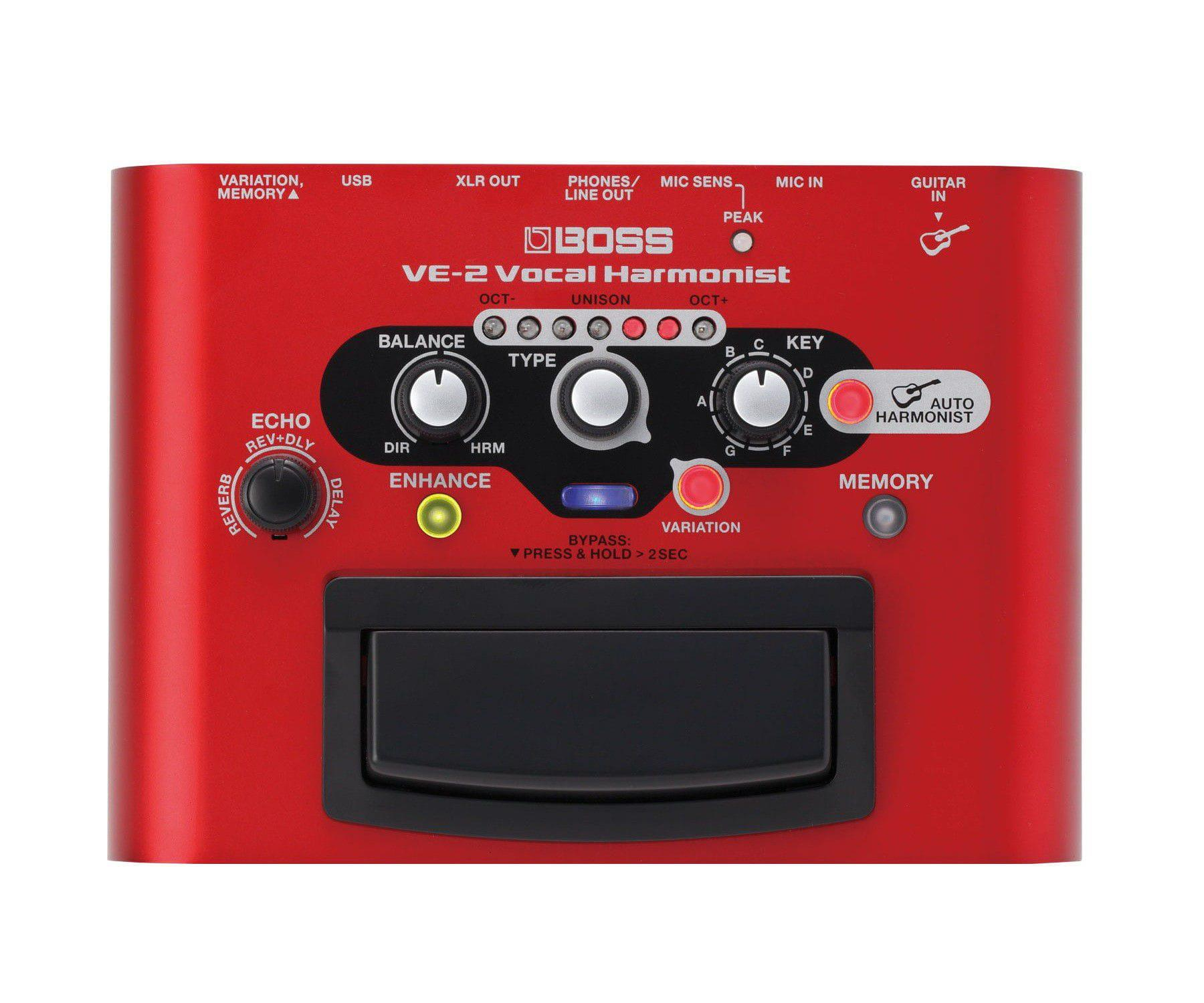 Boss Pedal de Efeito para Voz VE-2 Vocal Harmonist