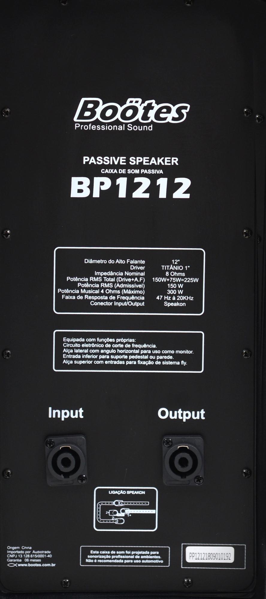 "Caixa Passiva Boötes BP-1212 (12""/150w RMS/Titânio/Entrada SPK)"