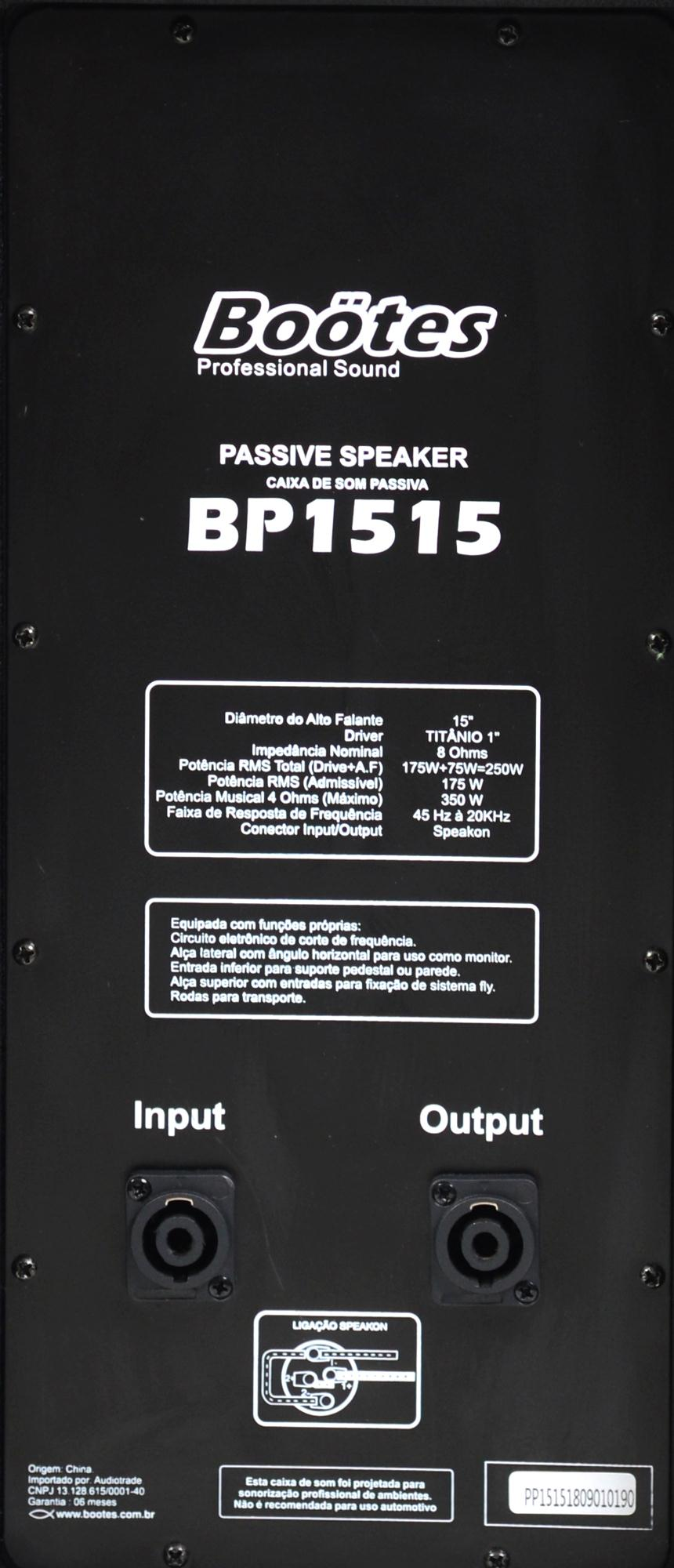 "Caixa Passiva Boötes BP-1515 (15""/250w RMS/Titânio/Entrada SPK)"