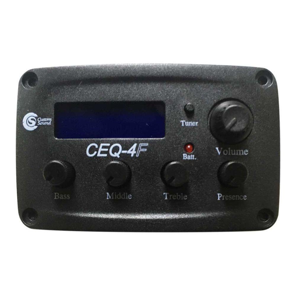 Pré Equalizador para Violão CEQ-4 Flat (4 Bandas/com Afinador)