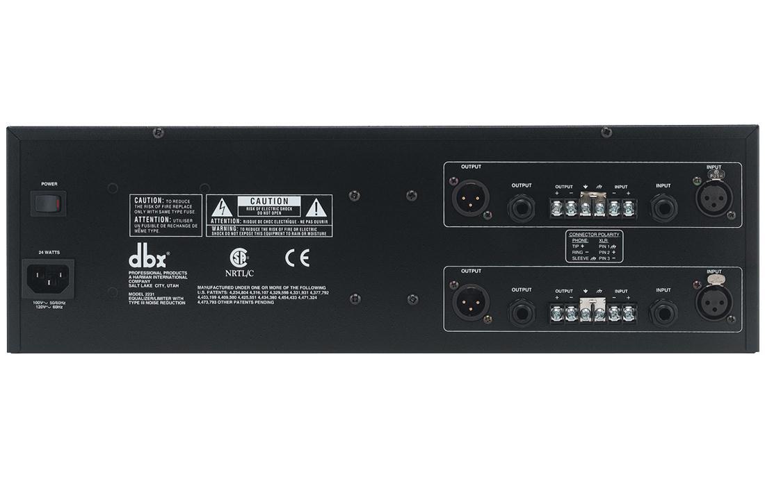 DBX Equalizador Gráfico 2231 (2 Canais/31 Bandas por Canal/110v)