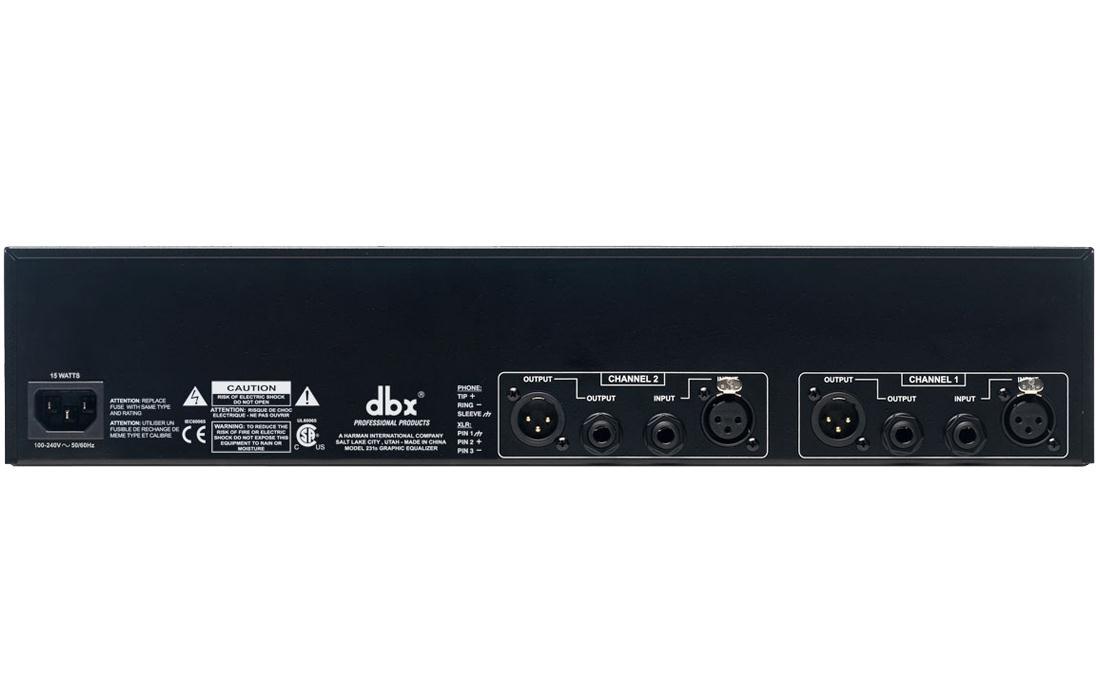 DBX Equalizador Gráfico 231S (2 Canais/31 Bandas por Canal)
