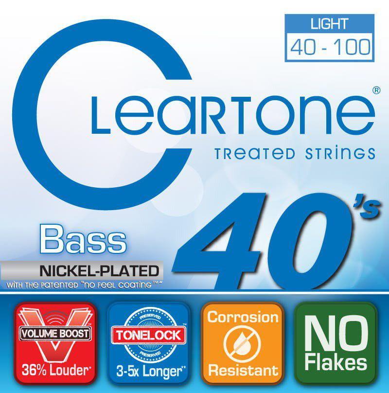 Encordoamento para Contrabaixo 4 Cordas Cleartone 040-100 Nickel-Plated