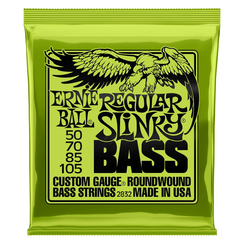 Encordoamento para Contrabaixo 4 Cordas Ernie Ball 050-105 Regular Slinky - 2832