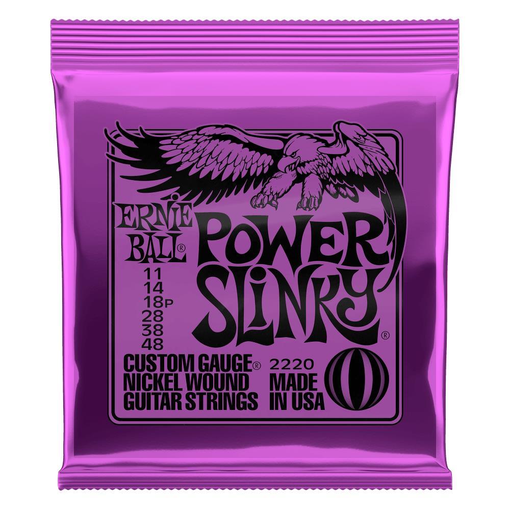 Encordoamento para Guitarra Ernie Ball 011-048 Power Slinky - 2220