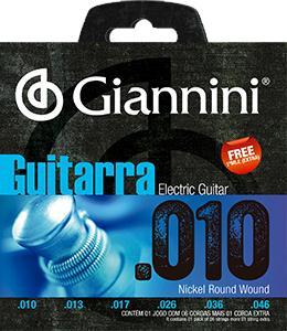 Encordoamento para Guitarra Giannini 010-046 ? GEEGST10