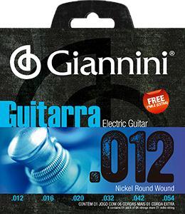Encordoamento para Guitarra Giannini 012-054 ? GEEGST12