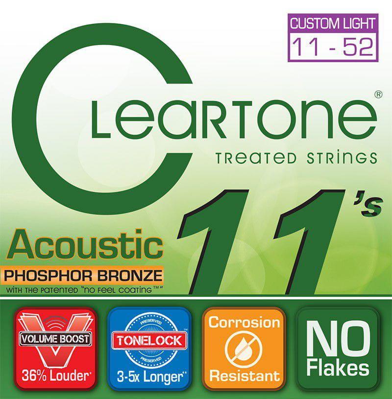 Encordoamento para Violão Aço Cleartone 011-052 Phosphor Bronze