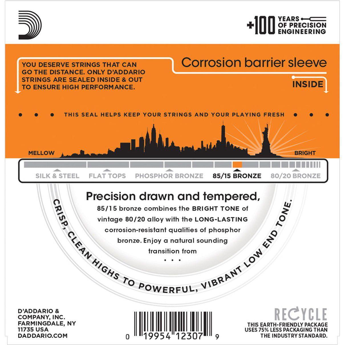 Encordoamento para Violão Aço D'Addarío 010-050 - EZ900-B (1 MI Extra)