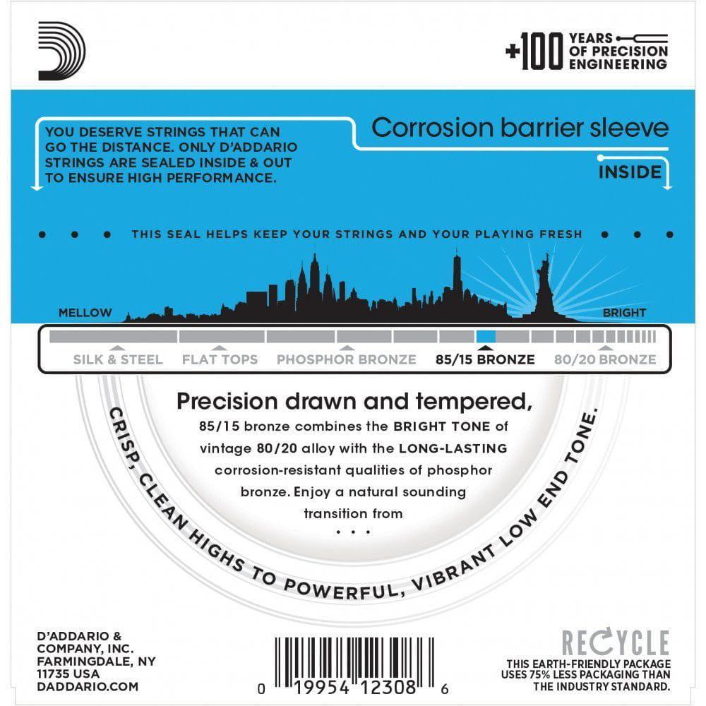 Encordoamento para Violão Aço D'Addarío 011-052 - EZ910-B (1 MI Extra)