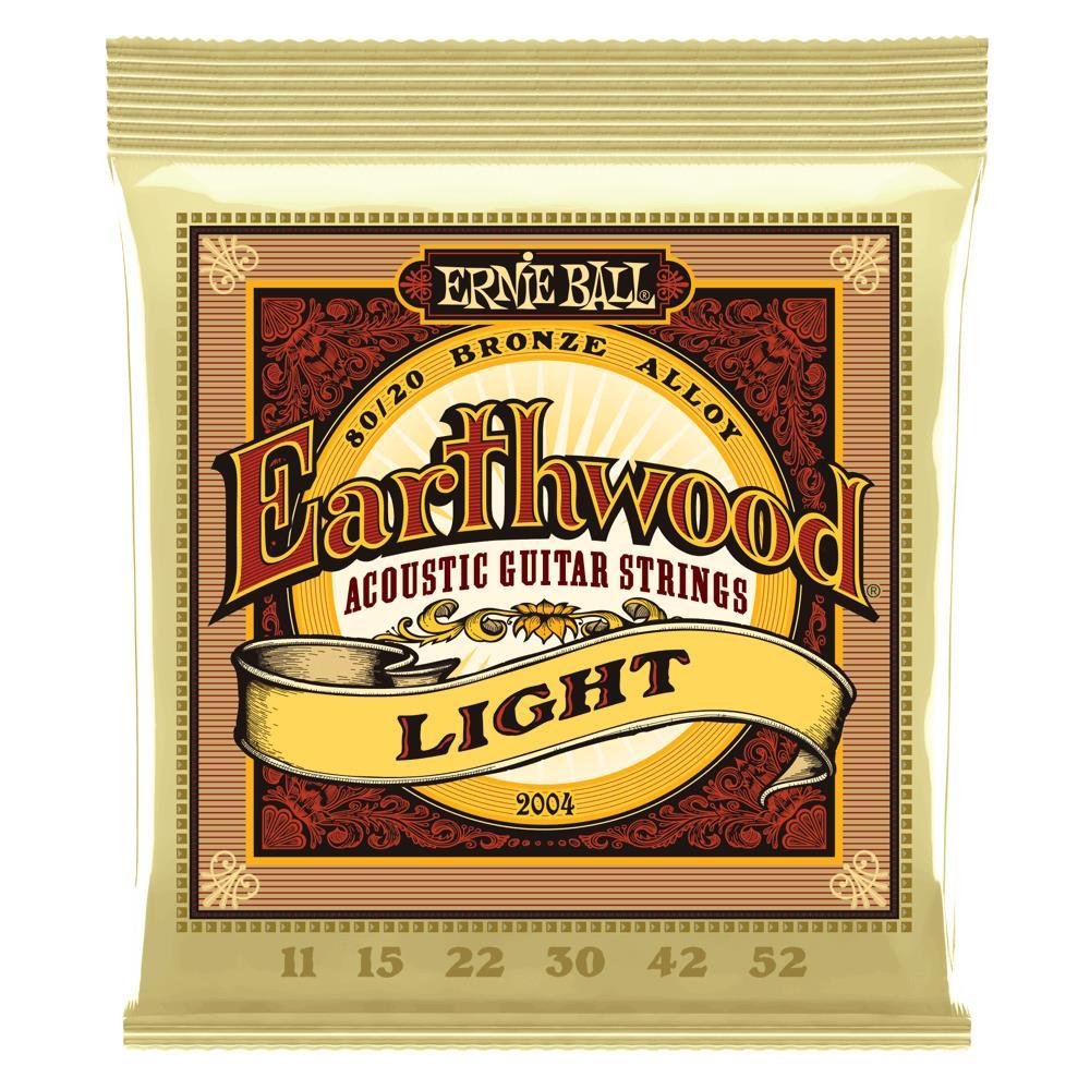 Encordoamento para Violão Aço Ernie Ball 011-052 Earthwood Light - 2004