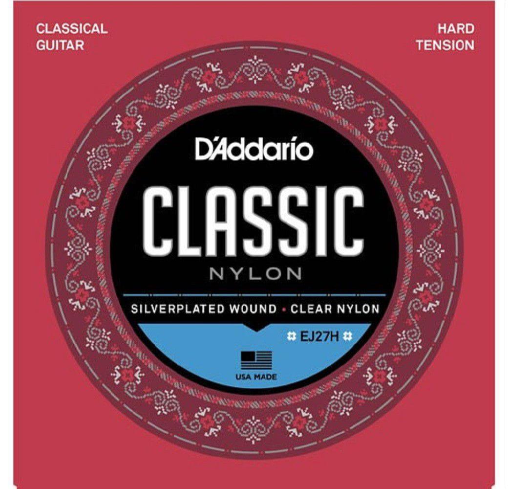 Encordoamento para Violão Nylon D'Addarío - EJ27H (Student Classics Hard Tension)