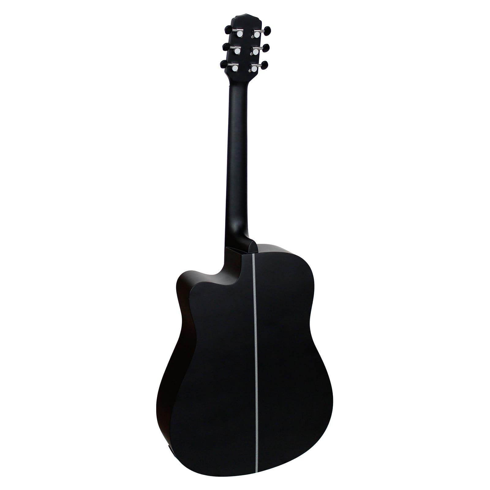 Giannini Violão Eletroacústico Folk GF-1D CEQ Satin Black (Aço)