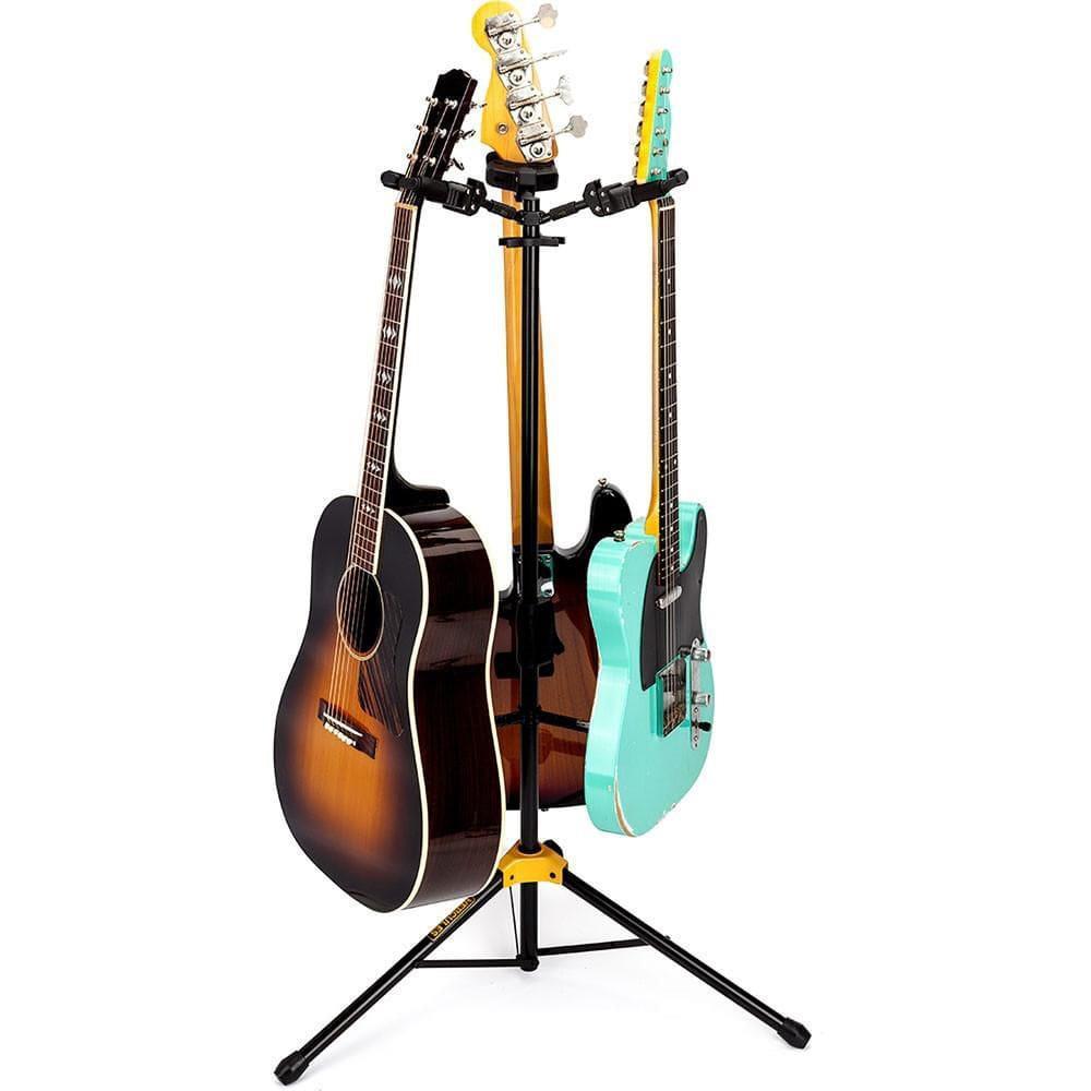 Hercules Suporte Triplo para Guitarra, Baixo e Violão GS432B (Com Regulagem de Altura)