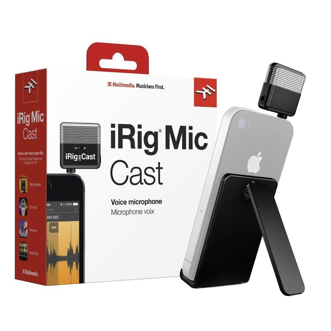 Microfone Portátil Ultra-Compacto iRig Mic Cast (iPhone/iPod Touch/iPad/Android Smartphones/Tablets)