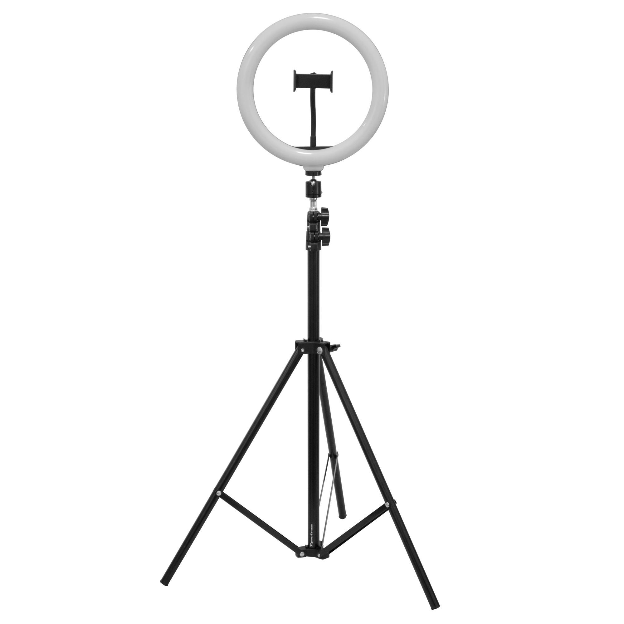 """Iluminador Ring Light 10"""" Spectrum SP26LED com Tripé Chão"""