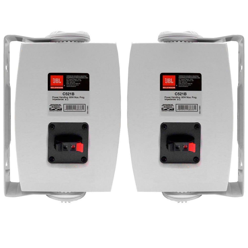 JBL Caixa Acústica para Som Ambiente C521B (Par/40w RMS/Branca)