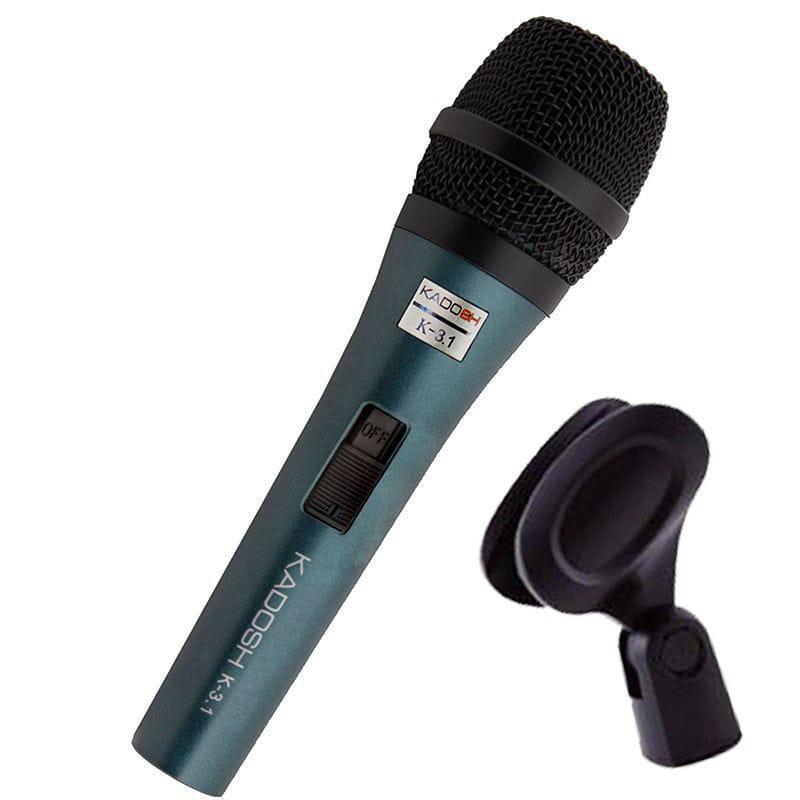 Microfone Dinâmico Com Fio Kadosh K-3.1 (Com Cachimbo)