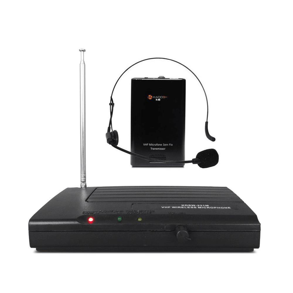 Microfone Sem Fio Headset Kadosh KDSW-231H (VHF)
