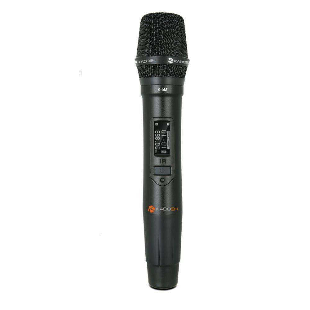 Kadosh Microfone Sem Fio K-501M (UHF/Display Digital/Bateria de Lithium)