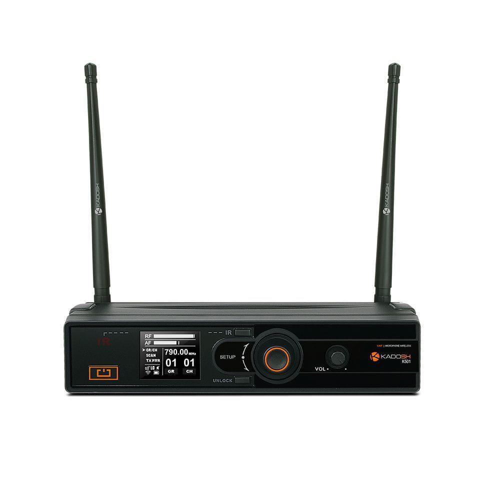 Kadosh Microfone Headset / Lapela Sem Fio K-501H (UHF/Display Digital)