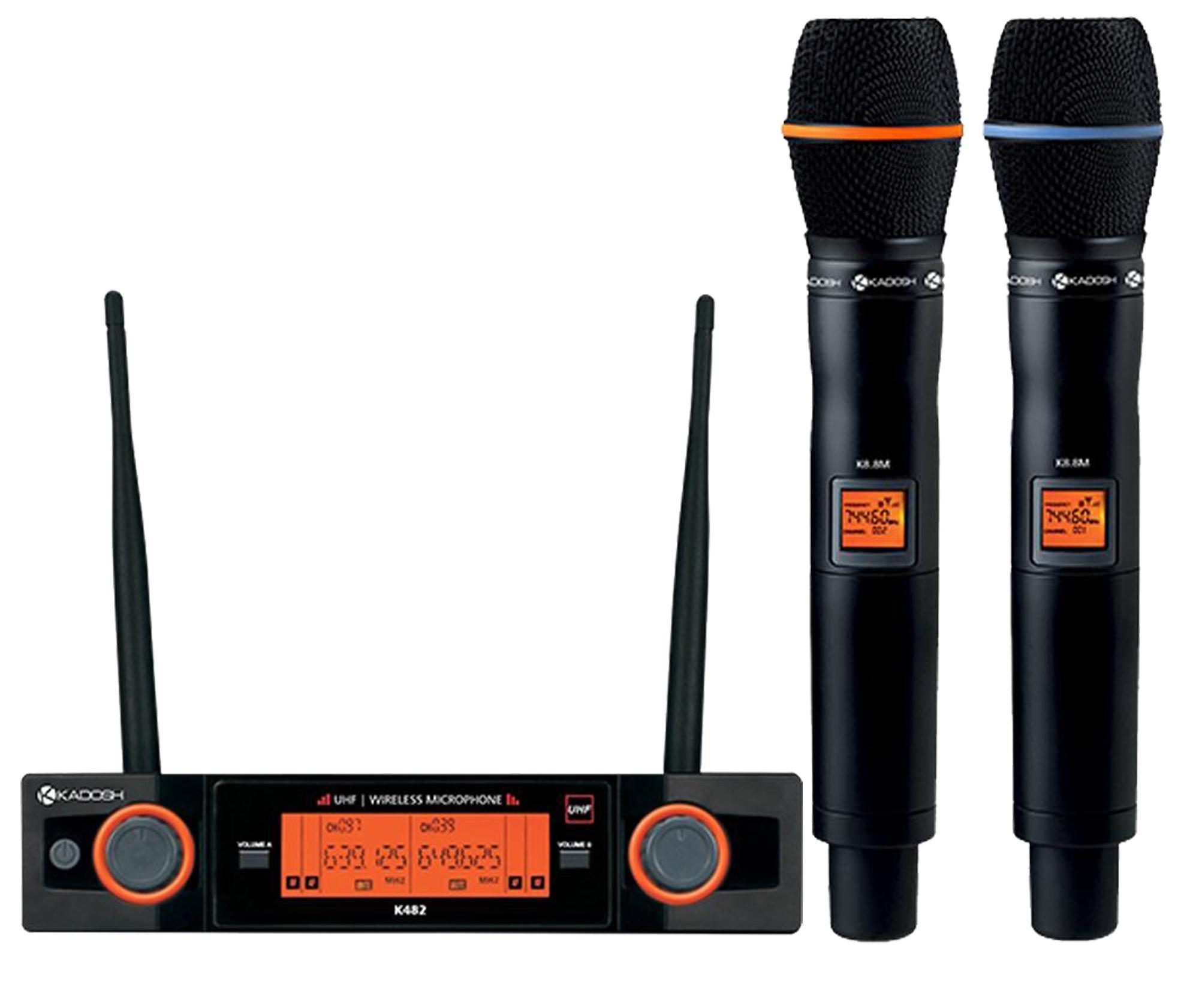 Kadosh Microfone Sem Fio Duplo K-482M (UHF/Display Digital com 50 Canais)