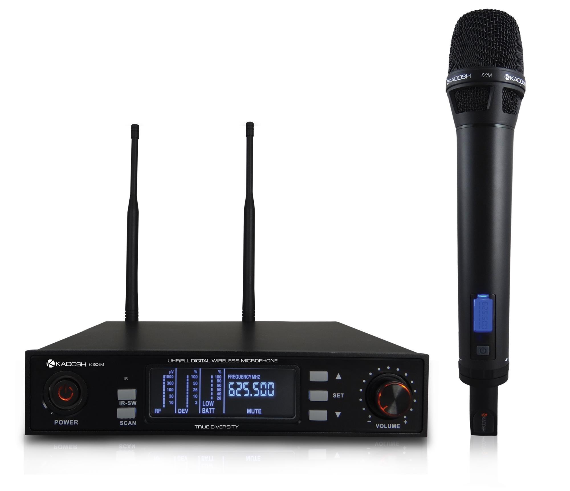 Kadosh Microfone Sem Fio K-901M (UHF/Display Digital)