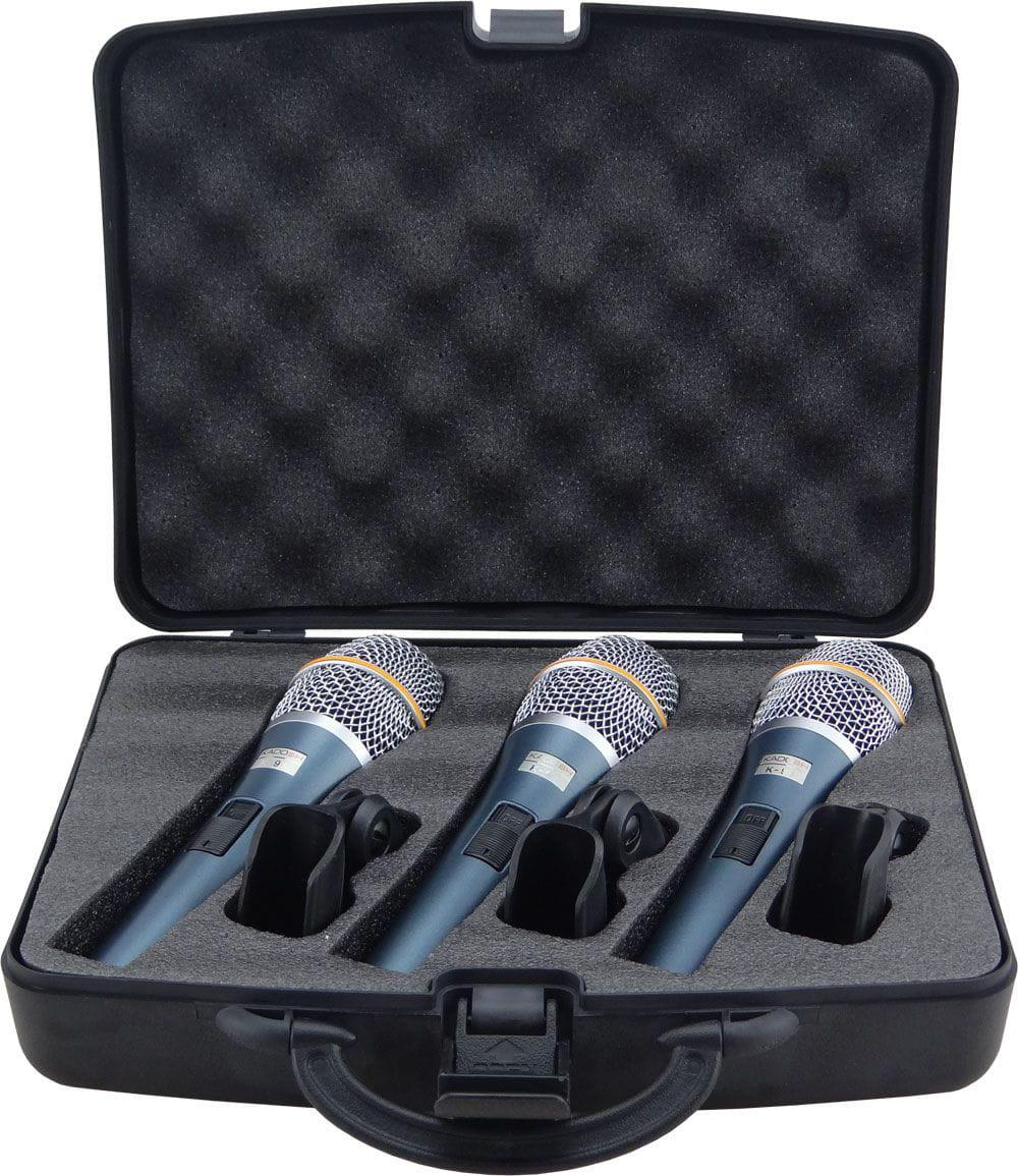 KIT Microfone Kadosh K-98 (3 Microfones + 3 Cachimbo)