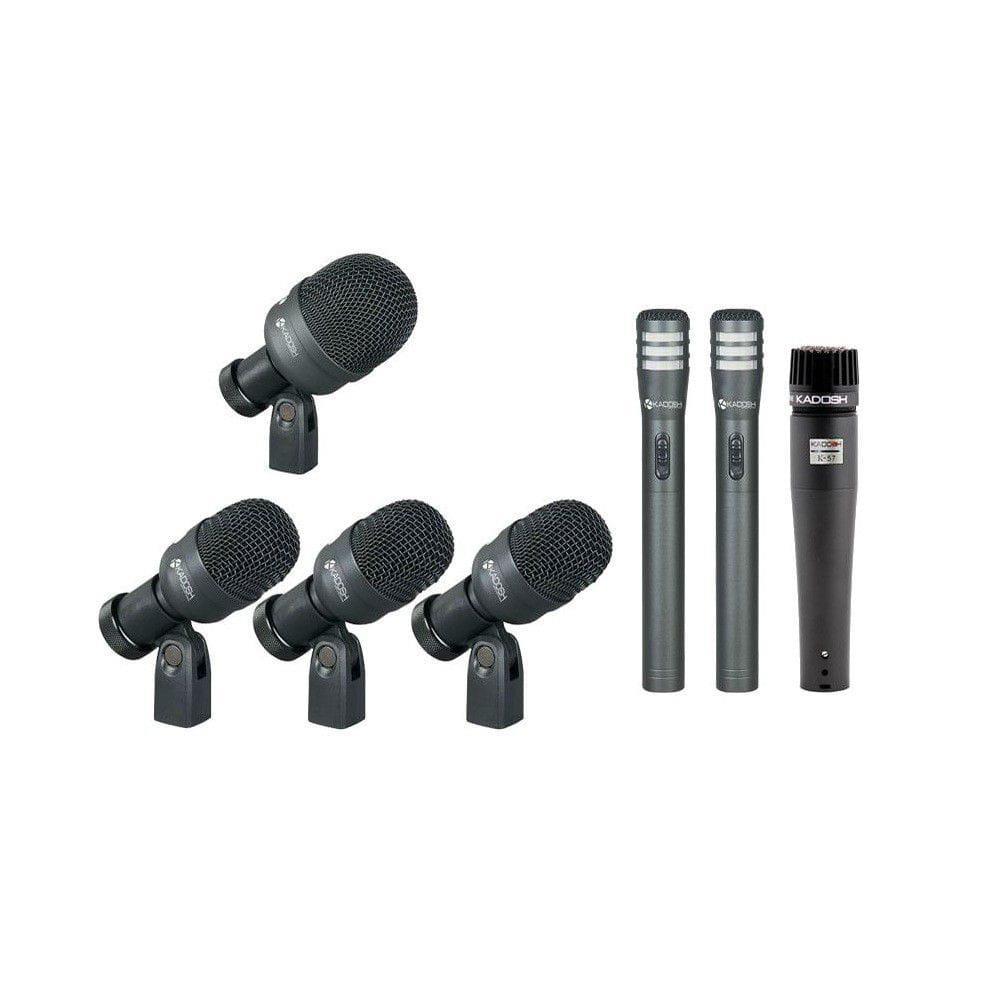 KIT Microfones Para Bateria Kadosh K-7 Slim (Com 7 Peças)