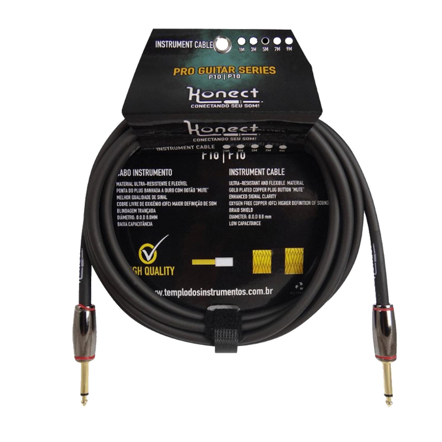 Cabo Instrumento P10/P10 Konect TJ150 (Plug com Sistema Automute/5 Metros)