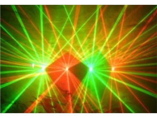Laser LZ-200-RG/4 RED-150mW GREEN-50mW (4 Saídas/DMX/Sensor)