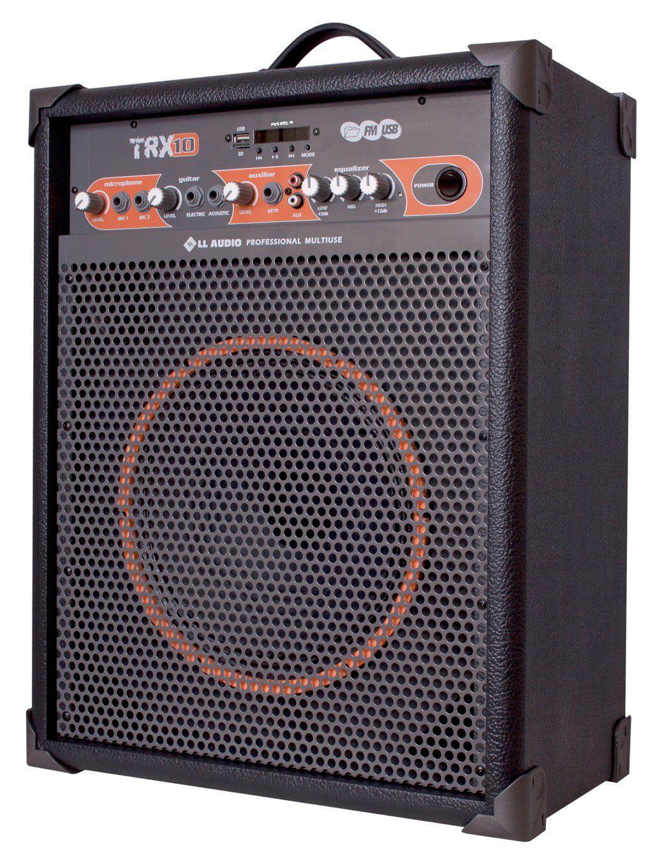 """Caixa Multiuso LL Audio TRX-10 (10""""/60w RMS/USB/Bluetooth/FM/Cartão SD)"""